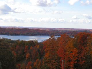Bellaire / Shanty Creek condo photo - View from Lakeview in the fall is something else!