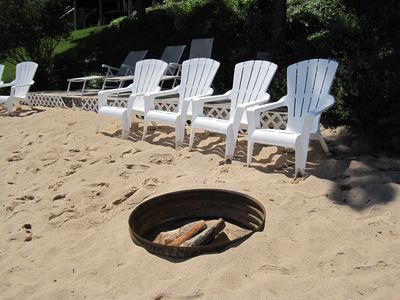Great beach with firepit