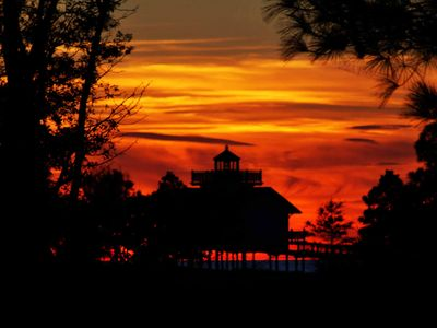 Sunsets on the Bay at Plantation Flats Lighthouse