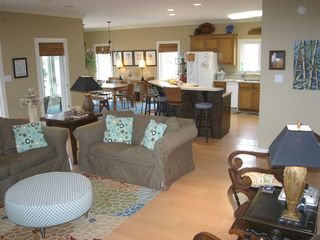 Dauphin Island house photo - Main floor living/kitchen/dining
