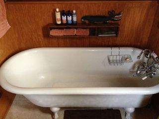 Breaux Bridge cottage photo - Enjoy a bubble bath in our tub. Local soaps made for Bonne Terre guests.