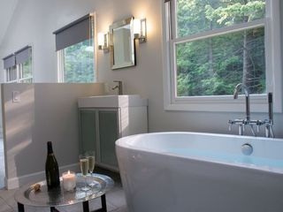 Woodstock house photo - Master Bathroom - Luxurious tub & shower area with radiant heated flooring