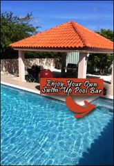 Aruba house photo - Swim up to your very own the pool bar for a pina coolada or margarita