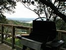Gas Grill with views of Lake Travis