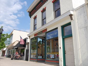 Downtown Elk Rapids is quaint and charming with plenty to do.