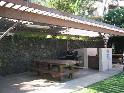 Gas Grills in convenient locations throughout the grounds, cleaned every day!