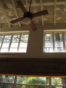 Cathedral ceiling dining/kitchen area