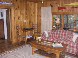 Highlands cabin photo - Family Room has Skylights, Pull-Out Sofa Bed and Game Table.