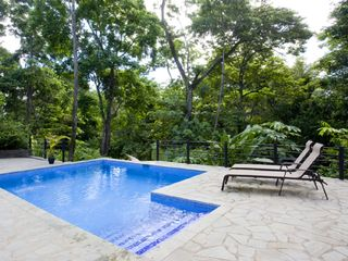 Manuel Antonio villa photo - Private pool with loungers (other loungers and table on other side...