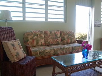 First level living room with Tommy Bahama furnishings
