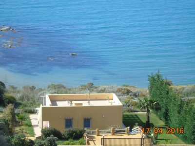 Villa Vittoria on the sea, free Wifi, air conditioning, wine, oil