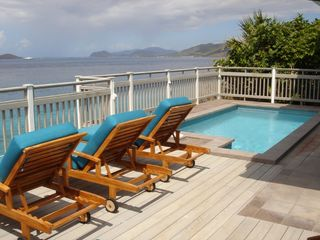 East End villa photo - The View From The Lower Pool Deck to St. John & British Virgin Islands