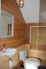 Garden City Beach house photo - NEW!! bathroom next to outdoor living area. No more walking upstairs!
