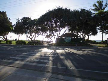 The crosswalk to the beach.