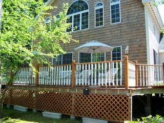 Moultonborough cottage photo - Front of the house and deck off the living room deck