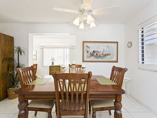 Flagler Beach house photo - The dining room is spacious and sunny.