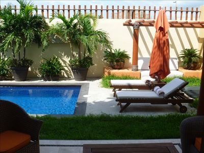 Relax and enjoy the privacy of the pool and terrace