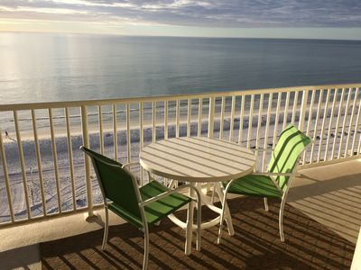 Picture yourself having breakfast on the balcony, overlooking the Gulf of Mexico