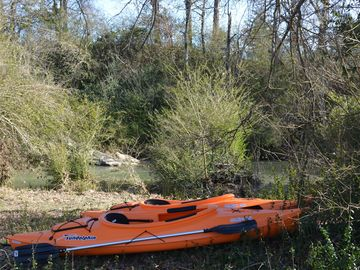 Mena cottage rental - Kayaks ready for you at the creek. Lifevests provided and required for use.