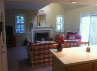 Norwich villa rental - Living Room with Wood Burning Fireplace View from Kitchen area