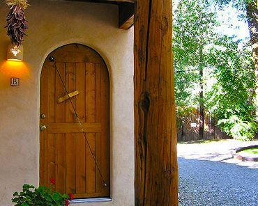 Taos cottage rental - Doorway to your private casita.