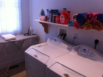 Montauk house rental - Washer/Dryer with Laundry detergents and beach towels available to all guests