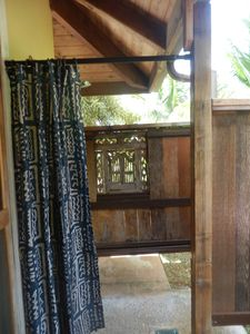 View into Outdoor Balinese Style Shower