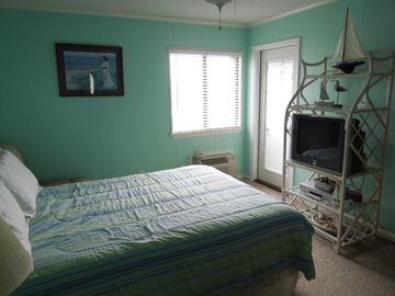 Master Bedroom has been renovated for a spring look