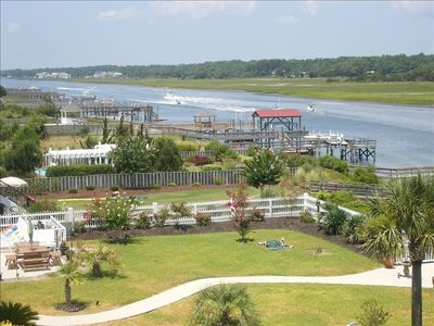 Incredible Panoramic View from the Main Level waterway porch!!