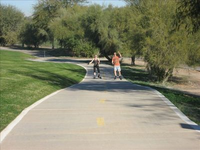 Rollerblading on Greenbelt Path