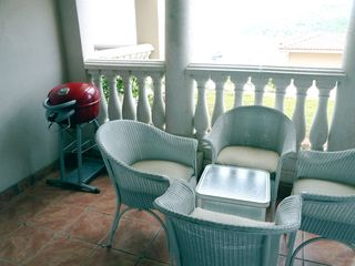 Cruz Bay condo photo - New Char-broil electric grill on terrace of one-bedroom side of the 2br condo
