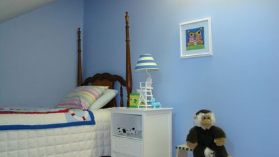 Tandem 'kids bedroom' off periwinkle room