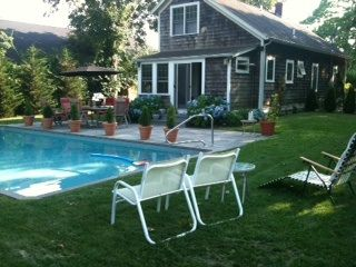 Bridgehampton cottage photo - Heated Pool/ Slate patio and teak table