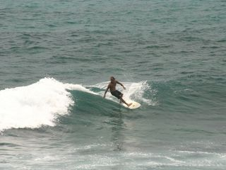 Kailua Kona condo photo - Catching a wave in front of Banyan Tree