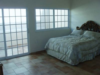 Manzanillo villa rental - one of 4 guest bedrooms with queen bed and private bath and balcony