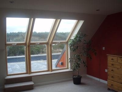 Inverness house rental - Master suite opens to the roof terrace