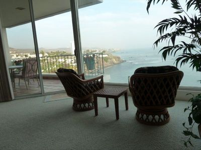 Ocean and surf point viewing chairs in Master Bedroom