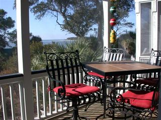 Fripp Island house photo - Main level porch