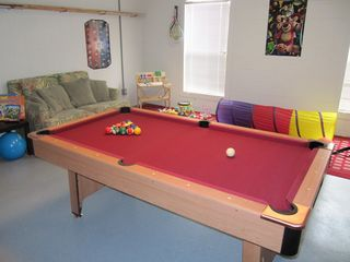 Davenport house photo - Games room - with pool table, board games, cd-player and children's toys