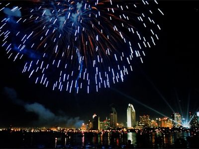 4th of July with San Diego's skyline