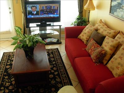 "Living room with 42"" LCD Television with DVD Player"