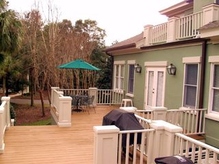 Kiawah Island house photo - Spacious deck w. BBQ