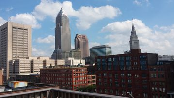 Cleveland condo rental - This is the View from roof of the condo building looking southeast!