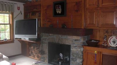 Family Room With Flat Screen TV and High Def Cable TV