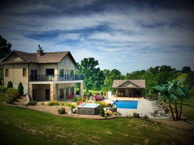 Private, Lakeside French Chateau on 25 acres overlooking amazing Ozark scenery