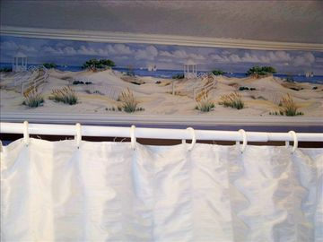Love those dunes.... hall bathroom, East and West sides
