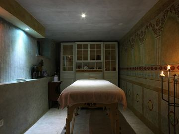 the massage room at Piaggione
