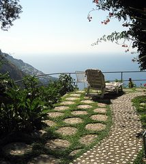 Positano house photo - The terrace in front of the house.