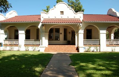 The front of the 'Alamo' house. Austin Historical Landmark Home