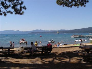 Lake Tahoe in summer at Tahoe City (5 miles)